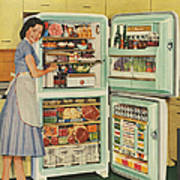 Stor-mor  1950s Uk Fridges Freezers Art Print