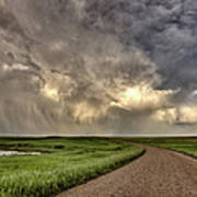 Storm Clouds Prairie Sky Saskatchewan Art Print