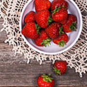 Strawberry Vintage Art Print by Jane Rix