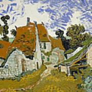 Street In Auvers-sur-oise Art Print
