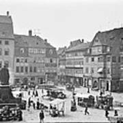 Street Market Coburg Germany 1903 Vintage Photograph Art Print