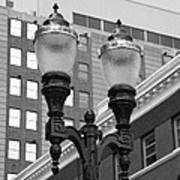 Streetlights - Lansing Michigan Art Print