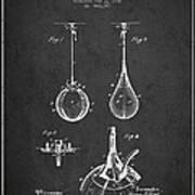 Striking Bag Patent Drawing From1891 Art Print