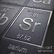 Strontium Chemical Element Art Print