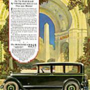 Studebaker Big Six - Vintage Car Poster Art Print