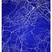 Stuttgart Street Map - Stuttgart Germany Road Map Art On Colored Art Print