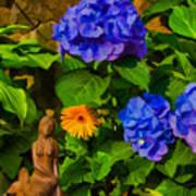 Summer Flower Garden Art Print