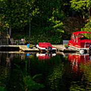 Summer Morning On Muskoka River Art Print