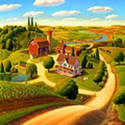 Summer On The Farm  Art Print
