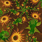 Summer's Last Sunflowers Art Print