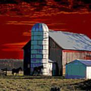 Sundown On The Farm Art Print