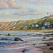 Sunrise At Crystal Cove Cottages Art Print