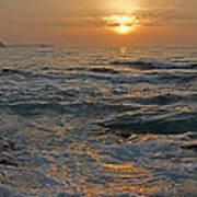 Sunrise At Portscatho Art Print
