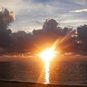 Sunrise In Cancun Art Print