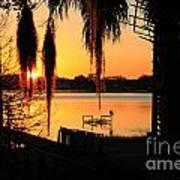 Sunrise On Lake Weir - 4 Art Print