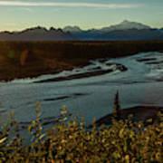 Sunrise On Mnt Denali, Trapper Creek Art Print