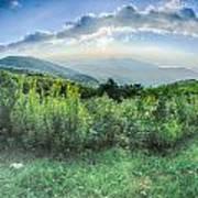 Sunrise Over Blue Ridge Mountains Scenic Overlook  Art Print