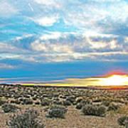 Sunset At Alstrom Point In Glen Canyon National Recreation Area-utah Art Print