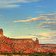 Sunset At Ghost Ranch Art Print
