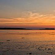 Sunset At Loch Bay Art Print