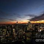 Sunset From Top Of The Rock Art Print