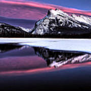 Sunset Mount Rundle Art Print