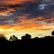 Sunset New Zealand  Art Print by Joyce Woodhouse