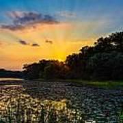 Sunset On Lake Masterman Art Print