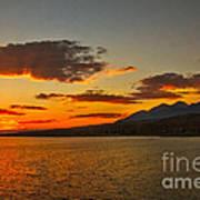 Sunset Over Mackay Reservoir Art Print