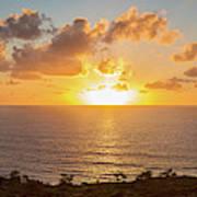 Sunset Over The Pacific Ocean, Torrey Art Print