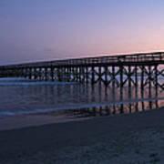 Sunset Pier Art Print