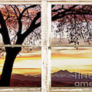 Sunset Tree Silhouette Abstract Picture Window View Print by James BO  Insogna
