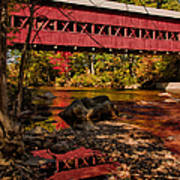 Swift River Covered Bridge Art Print by Jeff Folger