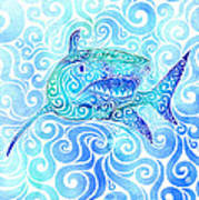 Swirly Shark Art Print
