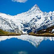 Swiss Alps - Schreckhorn Reflection  Art Print