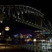 Sydney Harbor Bridge At Night Art Print
