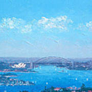 Sydney Harbour And The Opera House Cityscape View Art Print