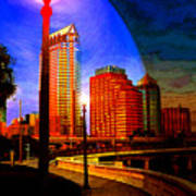 Tampa History In Reflection Art Print