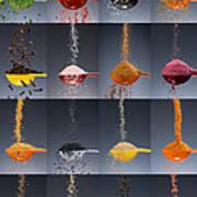 1 Tablespoon Flavor Collage Art Print by Steve Gadomski