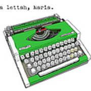 Take A Lettah Maria Art Print
