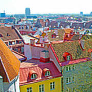 Tallinn From Plaza In Upper Old Town-estonia Art Print