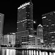 Tampa Black And White  Art Print
