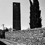 Tarquinia Muro Di Cinta Cipressi Torre Lampione Art Print