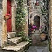Tarquinia Red Door Impasto Art Print