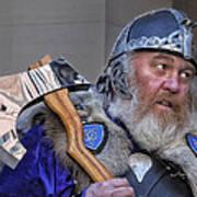 Tartan Day Parade Nyc 2013 Shetland Isle Celtic Warrior Art Print