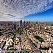 Tel Aviv Skyline Art Print