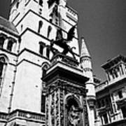 temple bar marker with dragon on the strand London England UK Art Print