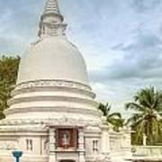 temple complex at the tropical island Sri Lanka Art Print