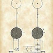Tesla Electric Transmission Patent 1900 - Vintage Art Print
