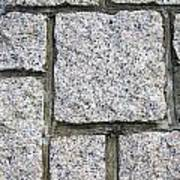 Texture Of Small Stone Structure Road  Art Print